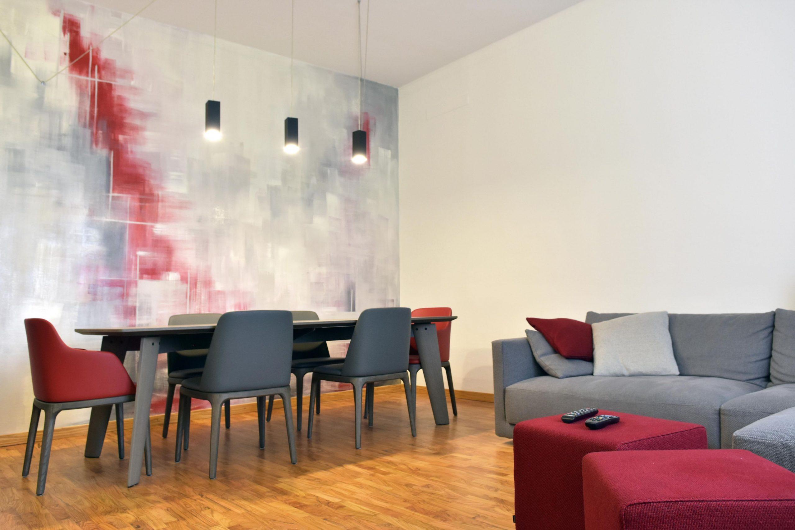 Muro decorato con resina