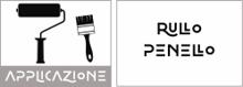 Applicazione con rullo e pennello
